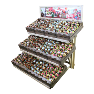 Display houtnerf losse bollen